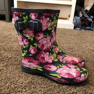 Floral Rubber Boots